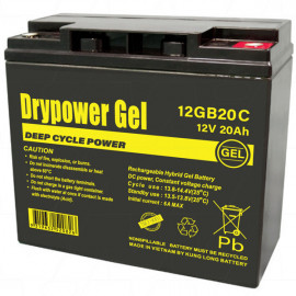 Drypower 12GB20C 12V 20Ah Sealed Lead Acid Gel Deep Cycle Battery