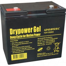 Drypower 12V 55Ah Sealed Lead Acid Gel Deep Cycle Battery