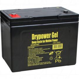 Drypower 12V 75Ah Sealed Lead Acid Gel Deep Cycle Battery