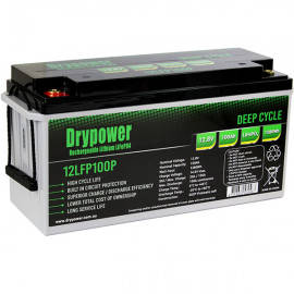 Drypower 12.8V 100Ah Lithium Iron Phosphate (LiFePO4) Rechargeable Lithium Battery - Up to 4 in Series Capable