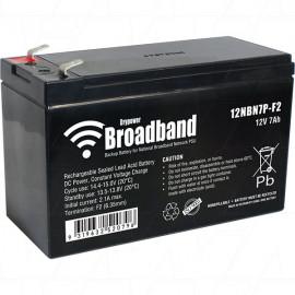 Drypower BROADBAND 12V 7Ah Sealed Lead Acid Battery for NBN backup