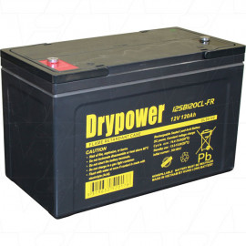 Drypower 12SB120CL-FR  12V 120Ah Sealed Lead Acid Battery