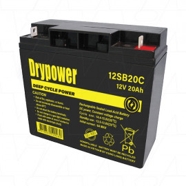 DRYPOWER 12V  20Ah  (Replaces Century 12v 18Ah SLA PS12180.)