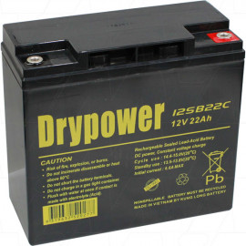 Drypower 12V 22Ah Sealed Lead Acid Battery