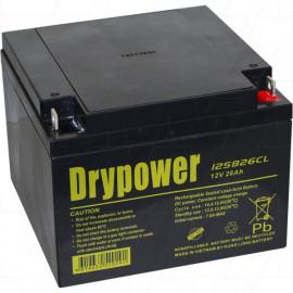 Drypower 12V 26Ah Sealed Lead Acid Battery
