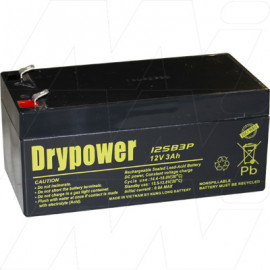Drypower 12v 3.0Ah Replaces  Century 12v NP3.4-12, PS1232, FAI Alarm battery