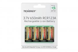 Tenergy 3.7V 650mAh LiIon Li-ion 16340 (RCR123A) Rechargeable Batteries for Netgear ARLO