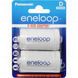 Eneloop D size Adaptors