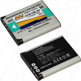Generic Panasonic, Pentax, Sanyo Digital Still & Camcorder Camera DB-L80, DBL80