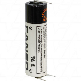 Fanso ER14505H/3PF AA size 3.6V 2700mAh Lithium Thionyl Chloride Battery - Bobbin Type with S+ D- 10mm Pins