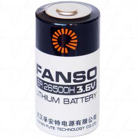 Fanso ER26500H C size 3.6V 9000mAh High Capacity Lithium Thionyl Chloride Battery - Bobbin Type