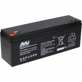 FP1245A Sealed Lead Acid Battery. Replaces ES4-12D, PS1238, HP4-12