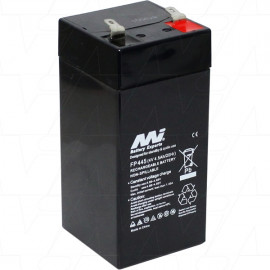 FP445 Sealed Lead Acid Battery. Replaces AP-445F1, BT4.5-4, CF-4V4.5, CP445S, FM460, LCS384P, NP-4.2-4H, PE-4V4.5, PS446, LA4.5-4, UB445, UPG40559, WP4.5-4