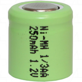 1/3AA size 250mAh Industrial Grade NiMH Cylindrical Battery