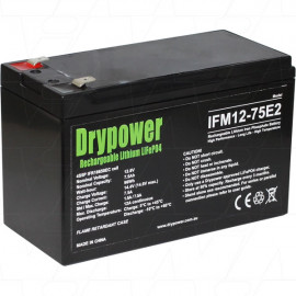 Drypower 12.8V 7.5Ah Lithium Iron Phosphate (LiFePO4) Rechargeable Lithium Battery