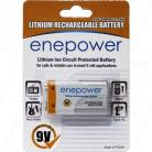 Enepower 500mAh 9V li-ion Rechargeable for wireless microphone