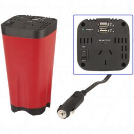 MI5128 Inverter - 10-15VDC Input - 240VAC Output @ 150 Watts Power  with 2 x 2.1A USB Output