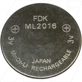 ML2016 FDK Rechargeable Lithium Coin Cell Battery