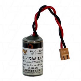 PLC battery replaces -  Eternacell B9650B. Suits Omron, CG1H, CJ1G, CJ1H, CPM2A, CQM1H, CPM2A-BAT01