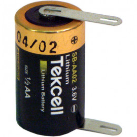 TEKCELL 1/2AA Lithium tagged each end