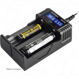 XTAR SV2 ROCKET 1-2 Cell Lithium Ion Fast Battery Charger with Real Time LCD Display