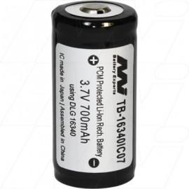 16340 Lithium Ion Torch Battery suits Cree, Dereelight, Dx, EDI-T, Extreme, Fenix, Fenixlight, Huntlight,