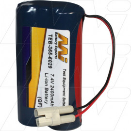 Battery pack suitable for L&W Felt Permeability Meter