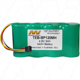 Battery replaces Fluke BP120MH suits Fluke 123, 124, 43, 43B