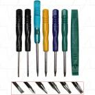 Specialised screwdriver set containing torx T5, T6, T8, T-, T+, Pentalobe & plastic spudger