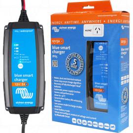 Blue Smart IP65 SLA/LiFePO4 Charger 12V 5A + Alligator Clips & M8 Eyelets