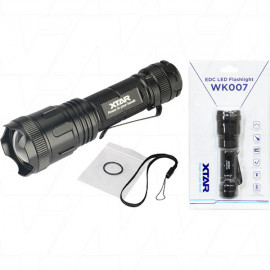 XTAR WK007  LED 500 Lumens Torch with Focusable Beam from Spotlight to Floodlight in an Ultra Compact Design