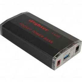 iFIGHTER-1500 - 	iFIGHTER-1500 powerbank with 5V & 12V 1.0A selectable output