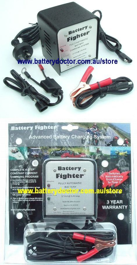Battery doctor australia 12v battery fighter 4 stage 125a sciox Image collections